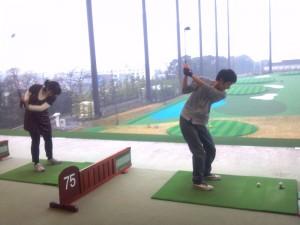 ゴルフ練習風景
